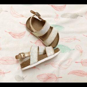 Children's Place Toddler Girl's Glitter Sandals